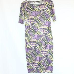 LuLaRoe Julia Dress XS Women Fashion Spring Style